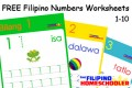 FREE Filipino Numbers Worksheets from 1-10