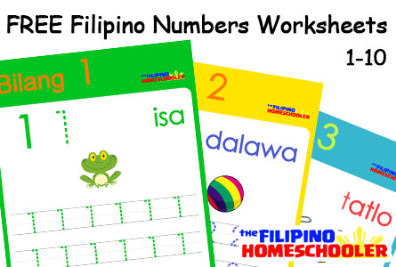 Free Filipino Numbers Worksheets From 1 10 The Filipino