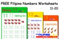 FREE Filipino Numbers Worksheets from 11-20