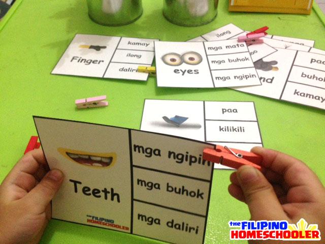 Filipino Clip Cards - Body Parts and Gab