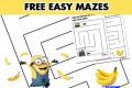 FREE – The Minions Mazes Printables
