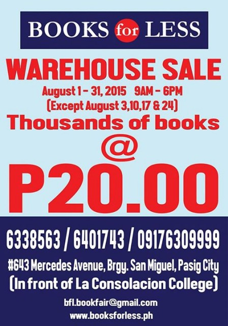 Books For Less Warehouse Sale Aug2015