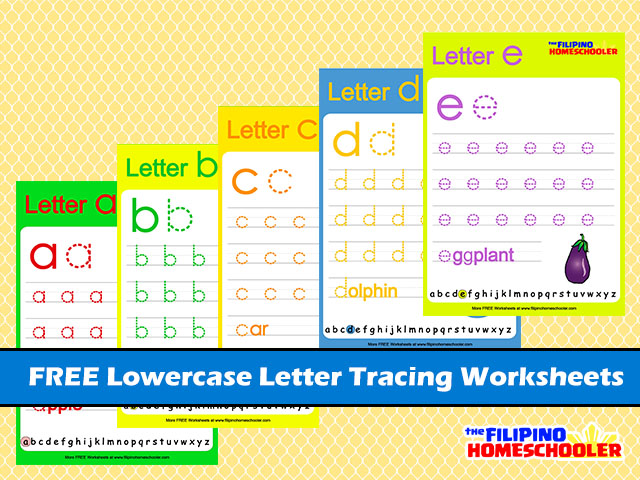 FREE Lowercase Letter Tracing Worksheets Â« The Filipino Homeschooler