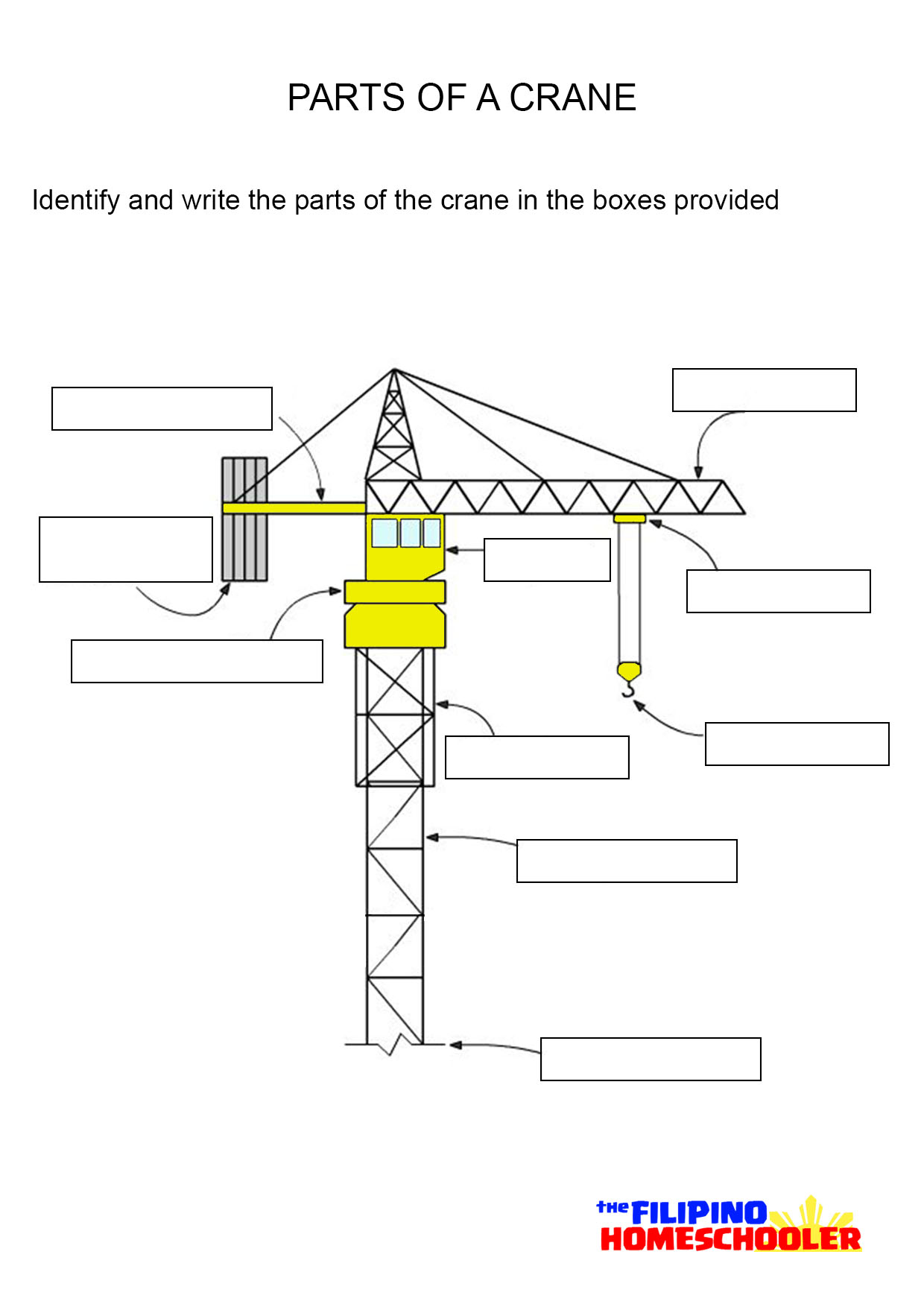 how to build a hydraulic crane for school