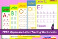 FREE Uppercase Letter Tracing Worksheets