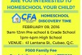 CFA Homeschool Discovery Time – February 2016