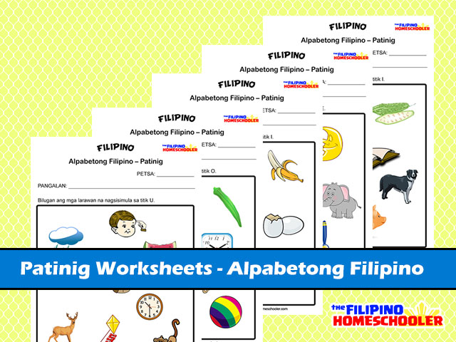 5 Free Patinig Worksheets Set 1 The Filipino Homeschooler