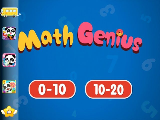 Math Genius App Review - Home Page