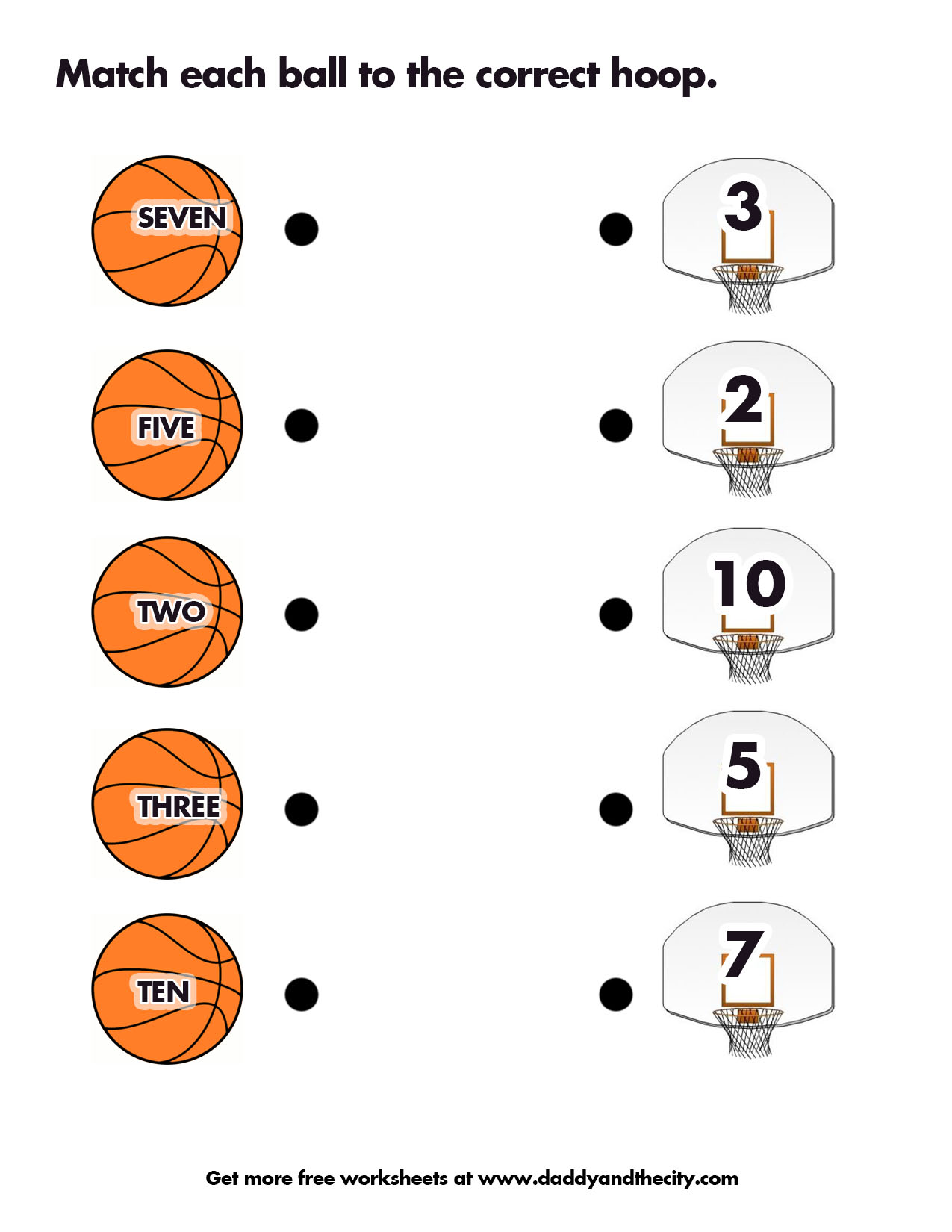 Matching Words And Numbers Worksheet The Filipino