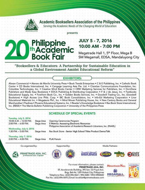 Philippine Academic Book Fair 2016