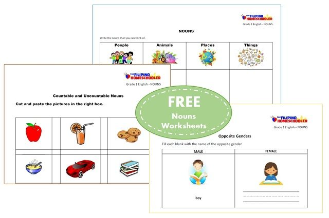 Free Nouns Worksheets For First Grade The Filipino Homeschooler. Printable. Noun Printable Worksheets At Mspartners.co