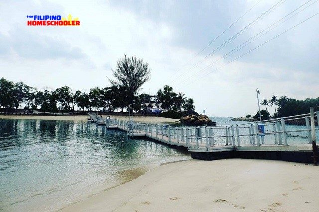 floating bridge at siloso beach sentosa