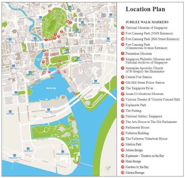 Singapore Jubilee Walk Map