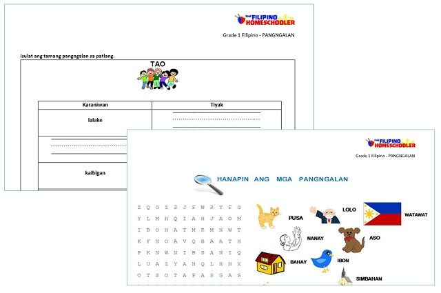 FREE Pangngalan Worksheets