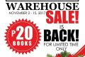 BooksforLess Pre-Christmas Warehouse Sale 2017