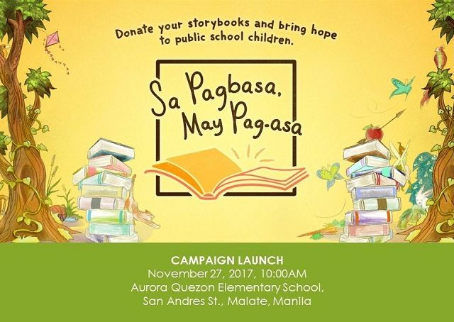 Sa Pagbasa, May Pag-Asa Campaign: Donate Storybooks