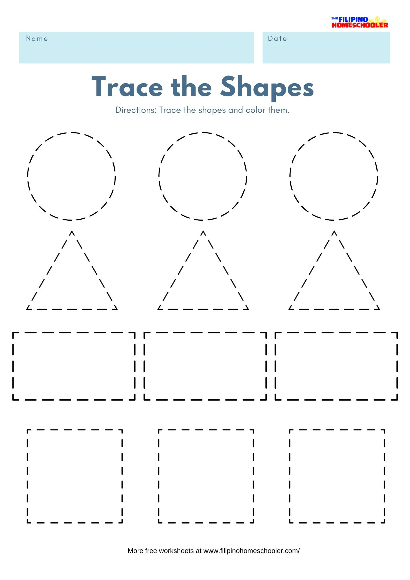 - Trace The Shapes Math Worksheets — The Filipino Homeschooler