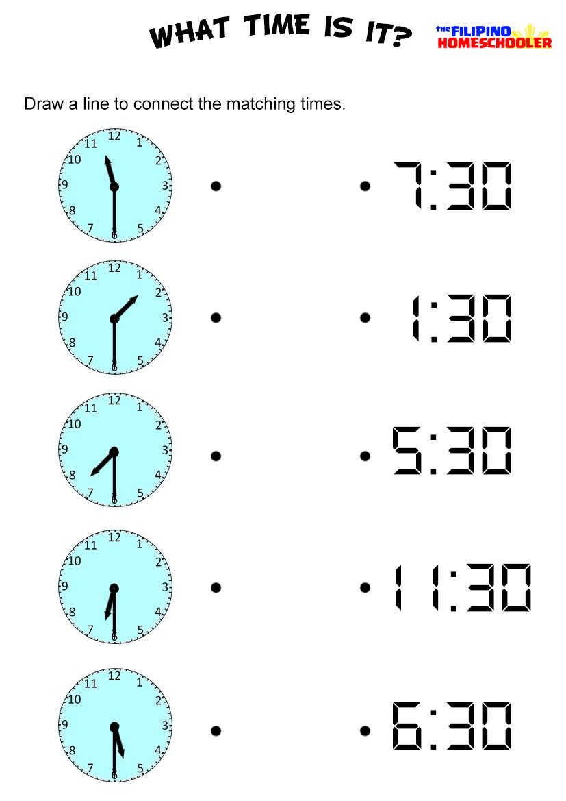 Workbooks quarter hour worksheets : Telling Time To Hour And Half Hour Worksheets Free Worksheets ...