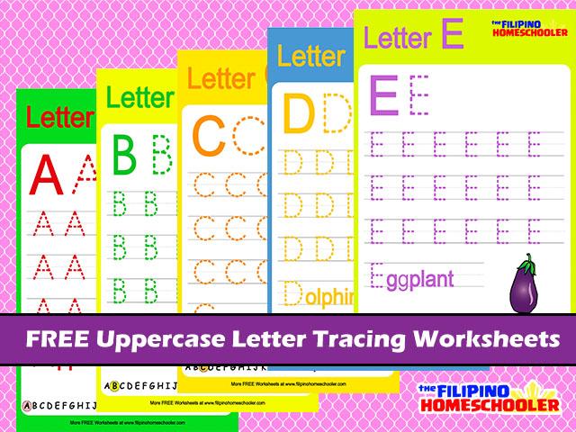 Number Names Worksheets uppercase letter tracing worksheets : FREE Uppercase Letter Tracing Worksheets Â« The Filipino Homeschooler